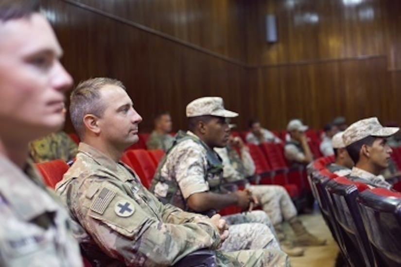 U.S. Army and Jordan Armed Forces Soldiers at the Jordan Operational Engagement Program (JOEP) graduation ceremony July 9. The U.S. Army is in Jordan to partner with the Jordan Armed Forces in meeting common security challenges in the Middle East.