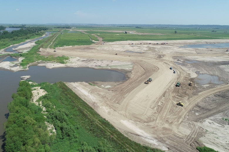 The F breach on levee L-536 was closed Thursday.