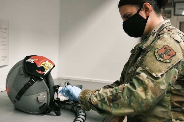 Airman inspects AFE equipment