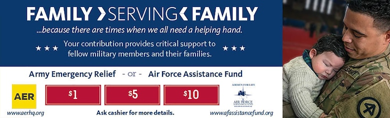 Helping those in need is always in season – and now Army & Air Force Exchange Service shoppers can donate any amount to military relief funds year-round at their nearest Exchange store.