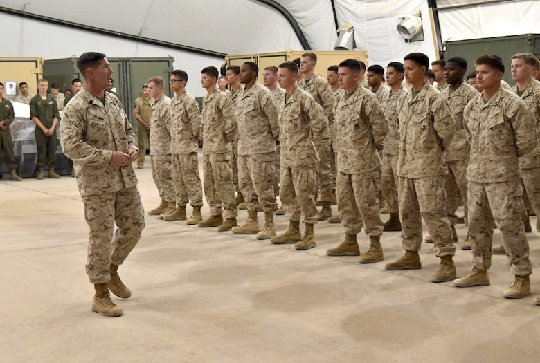 Sixty U.S. Marines with Mari.ne Attack Squadron 214 complete their Corporals Course at Prince Sultan Air Base, Kingdom of Saudi Arabia