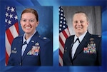 Lt. Col. Amanda Shumaker and Air Force Lt. Col. Jennifer Neris