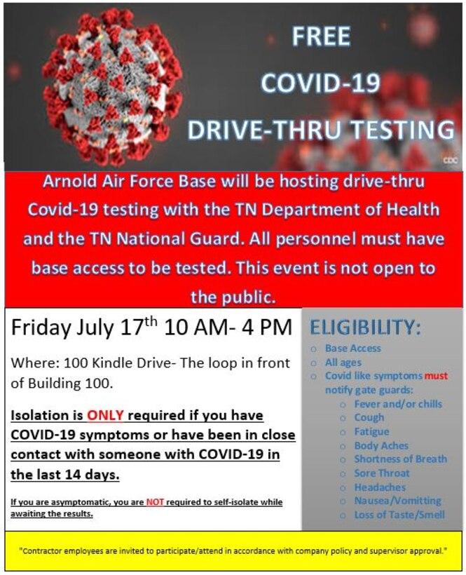 COVID-19 Drive thru poster