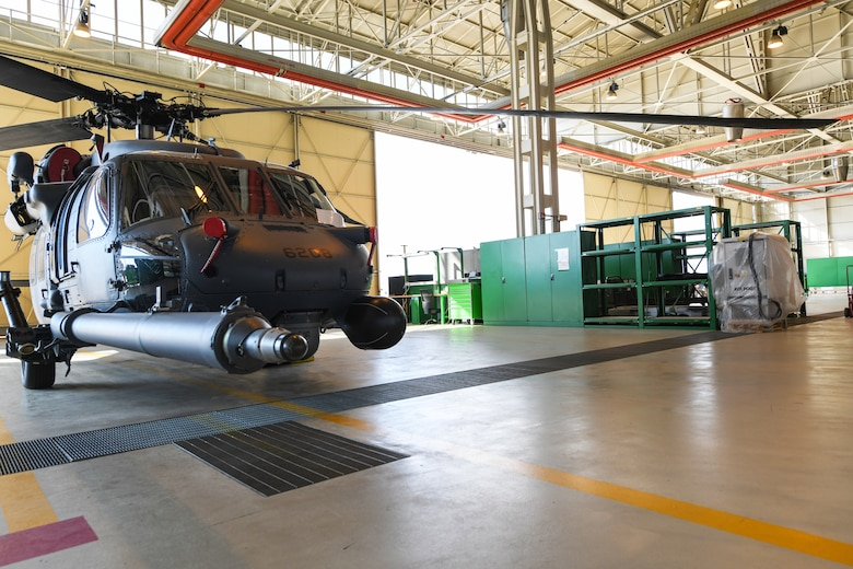 The 56th HMU sets roots in Aviano July 14, 2020 at Aviano Air Base, Italy.The 56th Helicopter Maintenance Unit's renovated a hangar with new flightline equipment at Aviano Air Base, Italy, July 14, 2020. The 56th HMU renovated various sections in hangar three. (U.S. Air Force photo by Airman 1st Class Ericka A. Woolever)