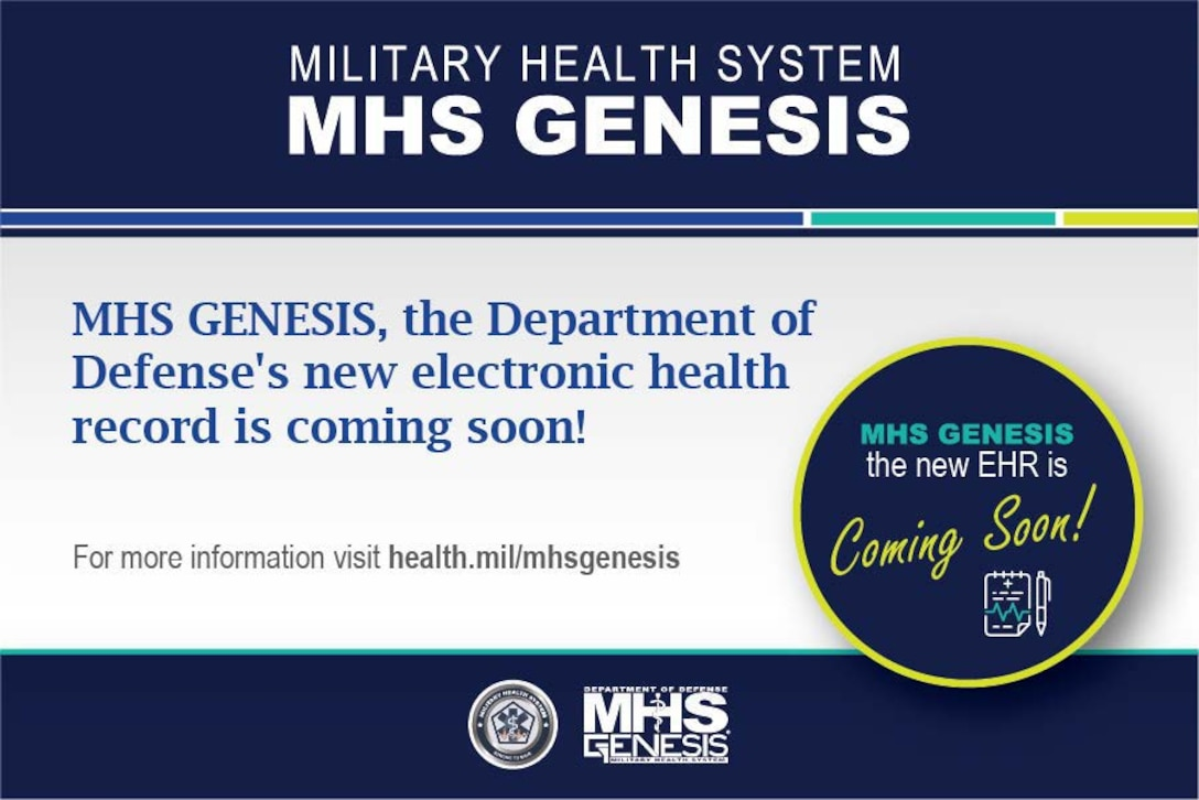 The 9th Medical Group will be transitioning to the DoD's new electronic health record, MHS GENESIS, on 26 September 2020. Visit HEALTH.MIL/MHSGENESIS to learn more.