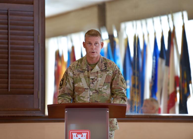 BG Tickner addresses NAD first time as division commander.