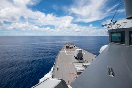 USS Ralph Johnson conducts freedom of navigation operation in South China Sea
