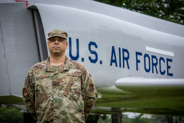 U.S. Air Force Tech. Sgt. Bradley Haywood, a 35th Fighter Wing equal opportunity NCO in charge, paused for a photo at Misawa Air Base, Japan, July 7, 2020. Haywood earned the Gen. Billy J. Bowles Mentorship Award for his work on and off-duty motivating his fellow Airmen. Haywood will now compete at the Air Force level. (U.S. Air Force photo by Airman 1st Class China M. Shock)