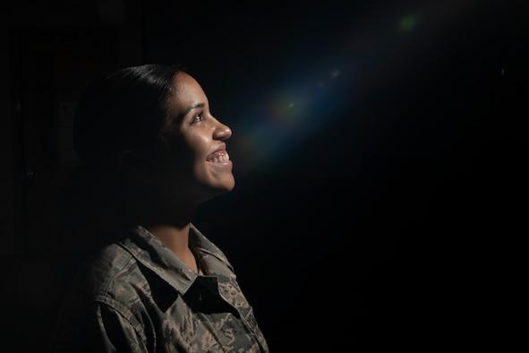 Photo of A1C Zuniga smiling
