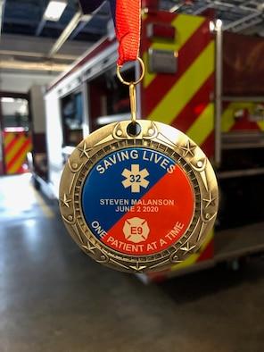 Photo shows medallion