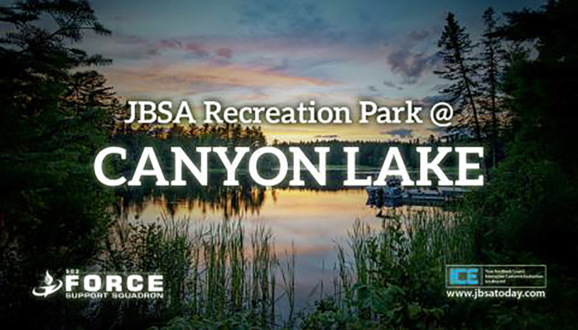 At the JBSA Recreation Park at Canyon Lake, groups of 10 are being allowed in, which includes the sponsor who must show their DOD ID card.