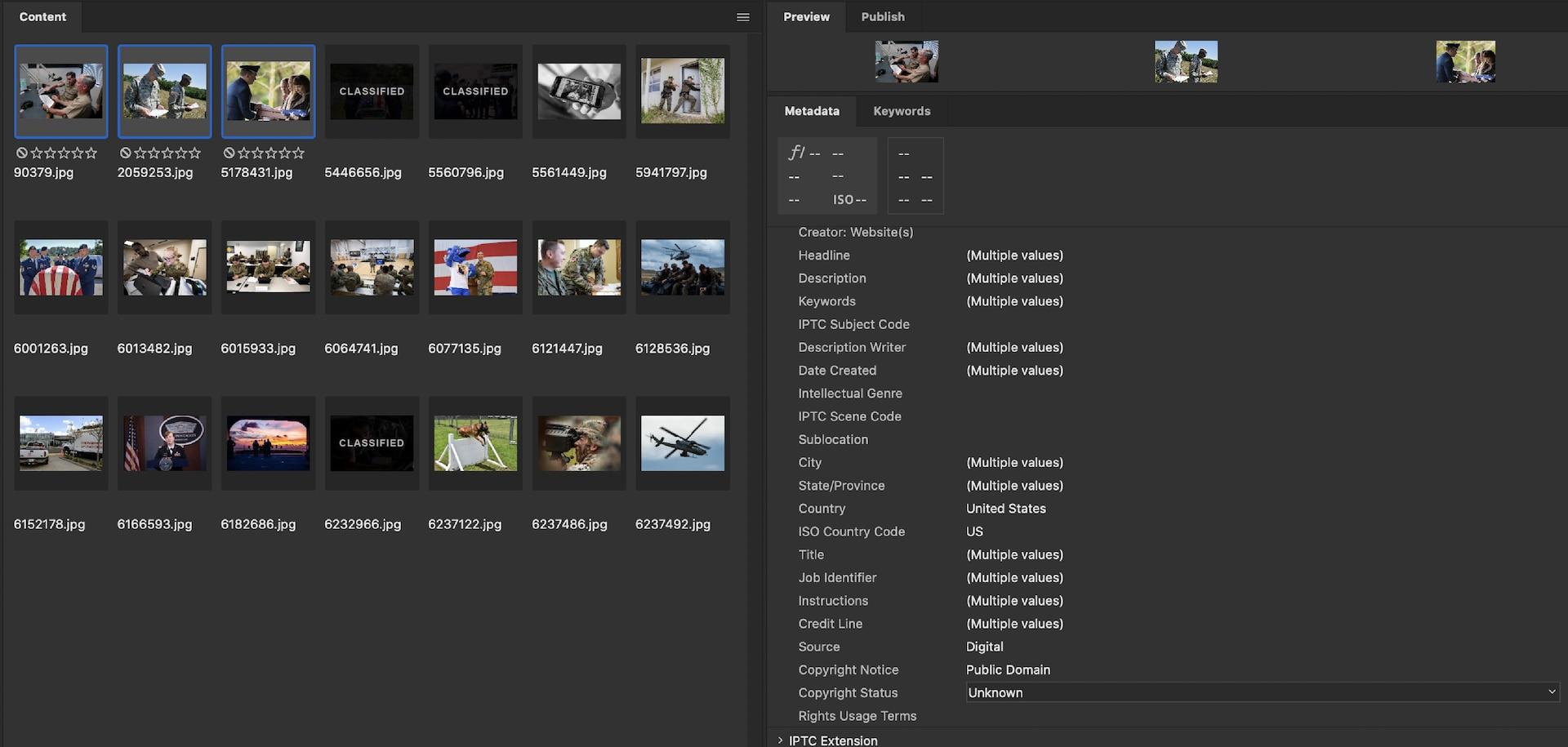 Screenshot of DVIDS Direct landing page