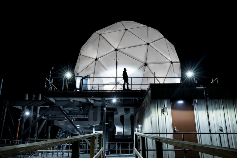 The U.S. Space Force's SMC and U.K. MoD teams used the Multi-Band Test Terminal, shown here, for the PTW demo on Monday, July 13, 2020. (Photo credit: MIT Lincoln Labs)