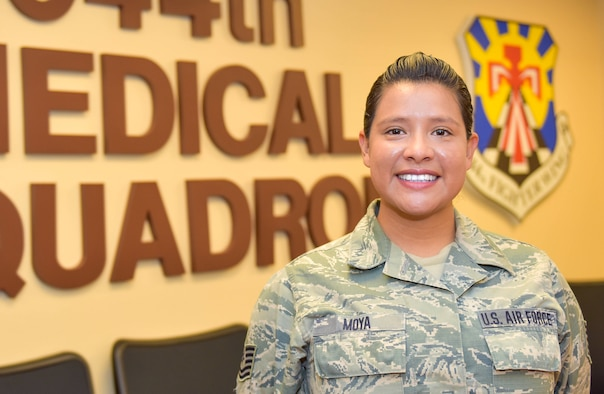 The July 944th Fighter Wing Warrior of the Month is Tech. Sgt. Roxanna Moya, 944th Medical Squadron medical technician.