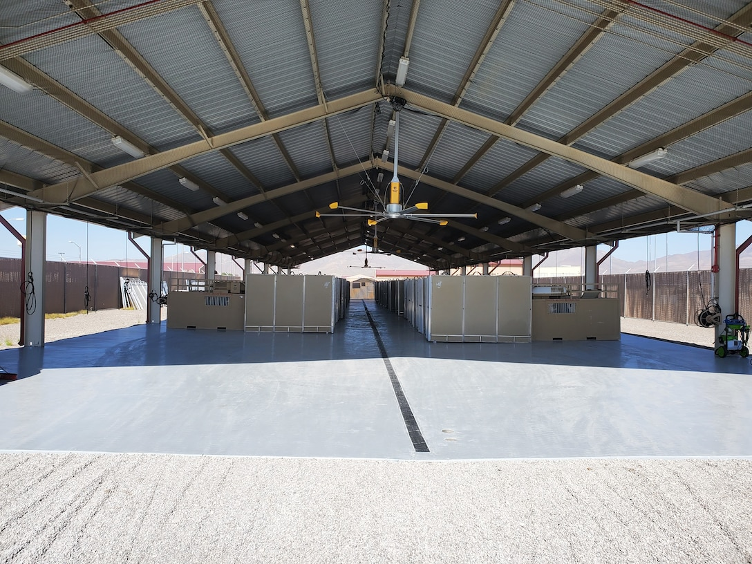 AFSFC Desert Defender's kennel facilities were recently renovated. All of these improvements were focused on improving the existing kennel facility for the health and welfare of MWDs that will be housed there while attending training courses.