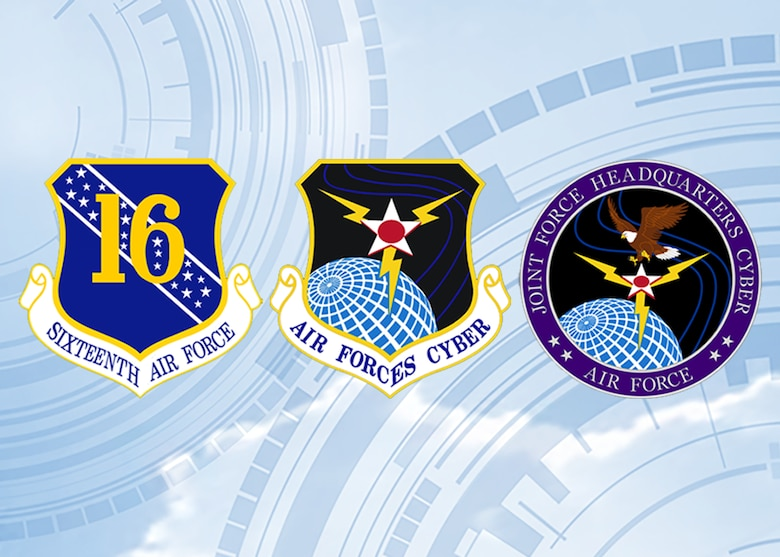 Sixteenth Air Force (Air Forces Cyber) Shields