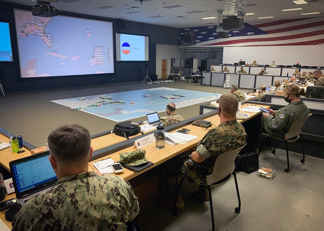 U.S. Army North hosted mission partners during the 2020 ARNORTH Hurricane Rehearsal of Concept Drill, held at Joint Base San Antonio-Fort Sam Houston both in-person and virtually, July 9. The event included more than 250 leaders from federal, state, U.S. territories and the military, to discuss their respective courses of action in the event of a hurricane response.