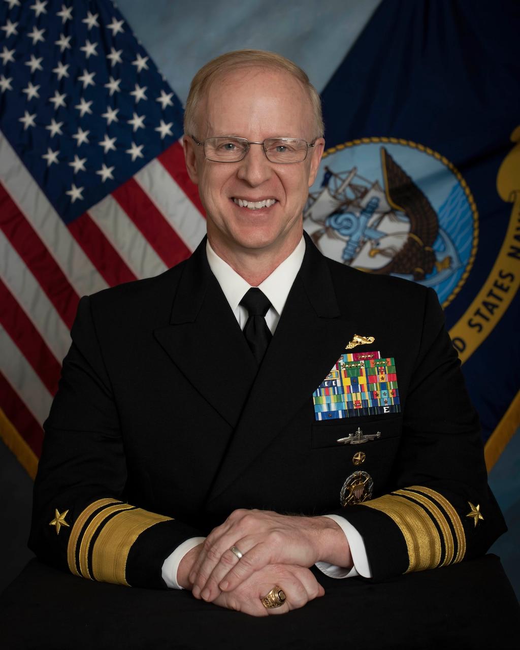 Vice Adm. Daryl Caudle, commander, Submarine Force Atlantic, official portrait.