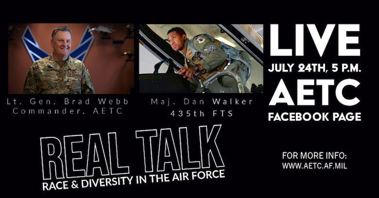 graphic with pictures of Lt Gen Webb and Maj Dan Walker