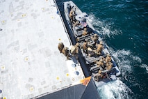 During VBSS training, Marines hone their ship boarding and seizure capabilities to increase their proficiency of non-compliant VBSS in support of Maritime Interception operations.
