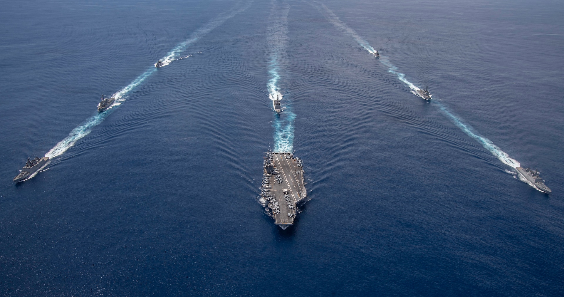 Nimitz Strike Group, Indian Navy conduct cooperative exercises