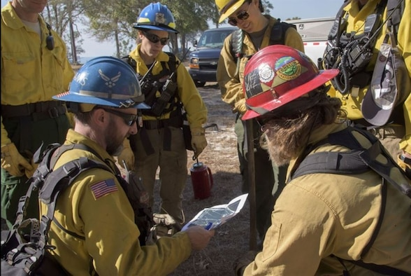 The Air Force Civil Engineer Center's Wildland Fire Branch hasn't let the COVID-19 pandemic stop it from protecting Airmen and their families as well as wildlife during this year's severe fire season.