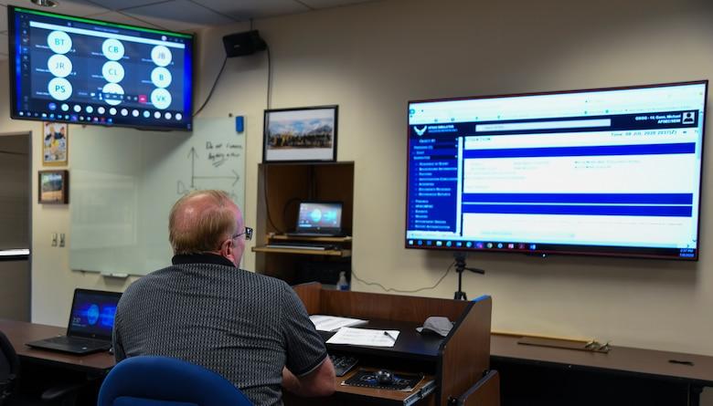 Instructor teaches virtually