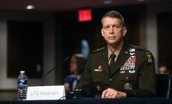 Army Lt. Gen. Daniel Hokanson testifies before the U.S. Senate Committee on Armed Services at a confirmation hearing for his appointment to the grade of general and to be chief of the National Guard Bureau, Dirksen Senate Office Building, Washington, D.C., June 18, 2020. Hokanson was confirmed by the Senate July 20, 2020.