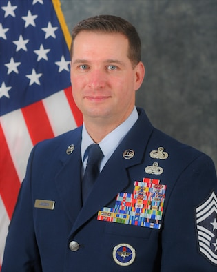 Chief Master Sergeant Gene B. Jameson III is the Command Chief Master Sergeant for the 48th Fighter Wing Royal Air Force Lakenheath, England. (U.S. Air Force courtesy photo)
