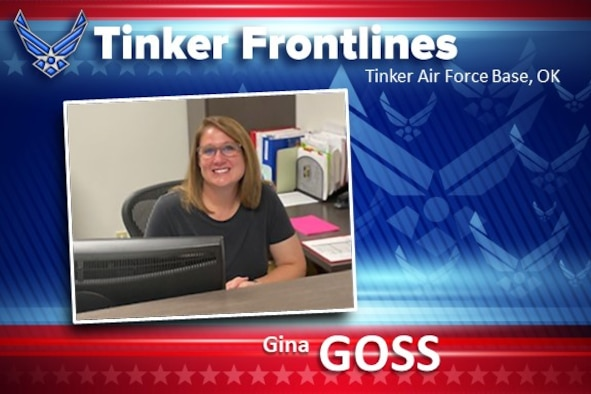 Gina Goss, a management assistant in the 424th Supply Chain Management Squadron, has been in civil service for one year.