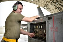 A photo of an Airman operating a ground power unit.