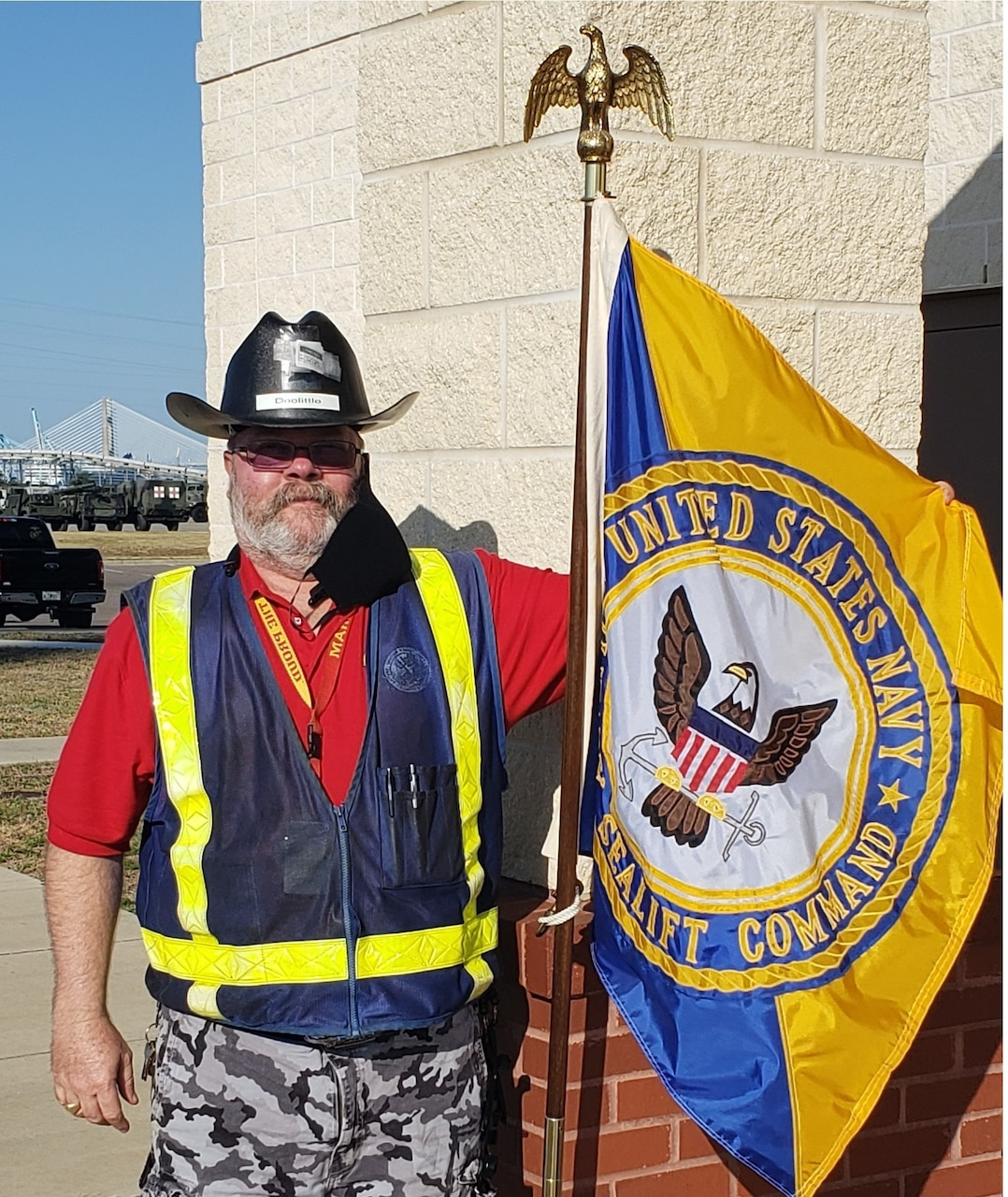 Dean Doolittle, is one of Military Sealift Command Atlantic's mission critical employees serving during the COVID-19 pandemic that has swept the nation in 2020.