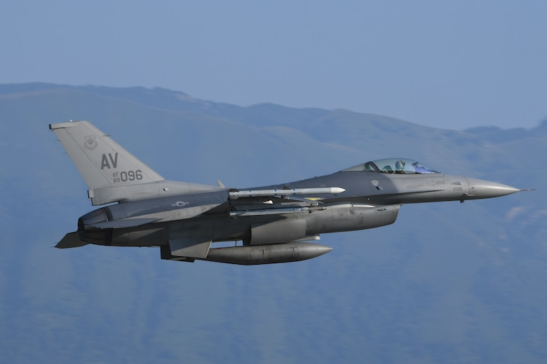 Military aircraft taking off in Italy.
