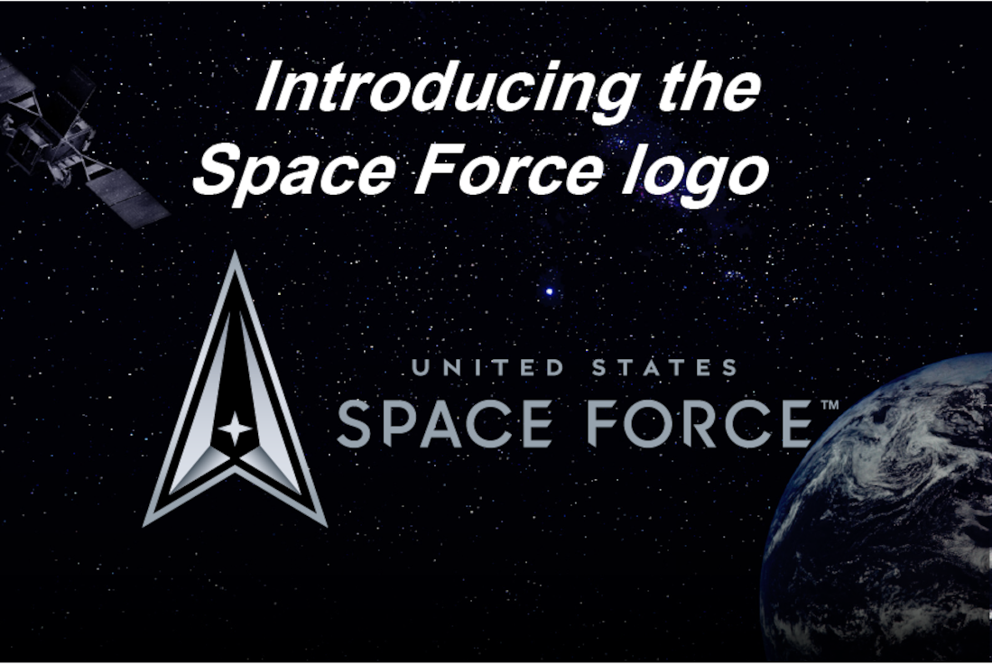 Graphic to introduce the Space Force logo