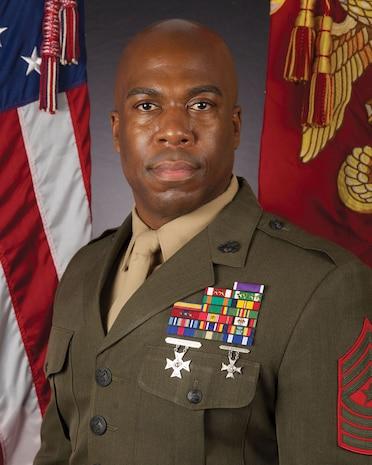 Command board photo for Sgt. Maj. Frank. O. Robinson.