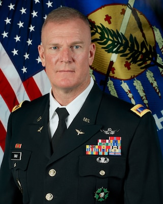 Official photo for Chief Warrant Officer 5 Christopher Rau, command chief warrant officer for the state of Oklahoma.