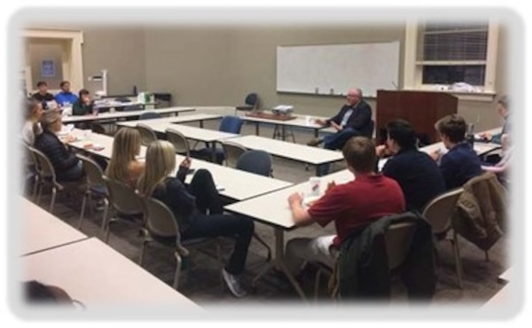 TNTCX Deputy, Mr. Mike Fedoroff speaks with University students about USACE work with Tribes