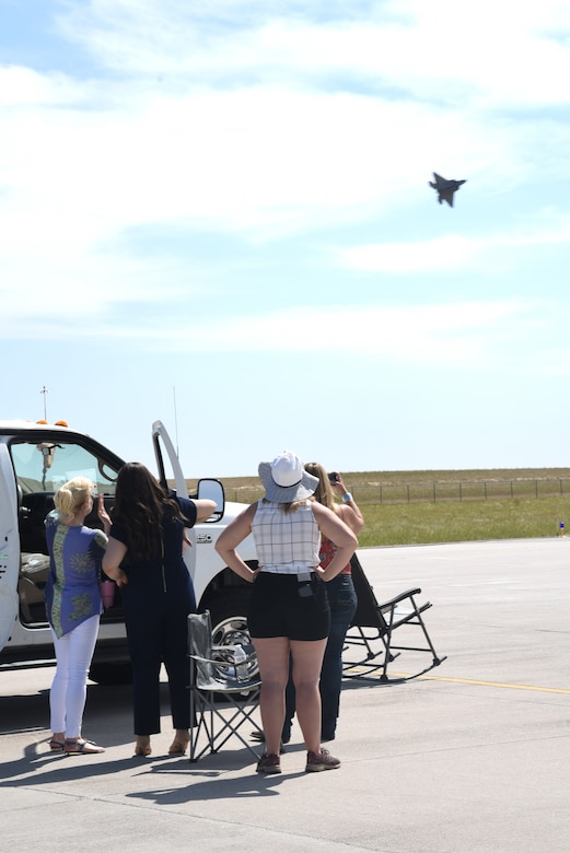 spectators watching aircraft