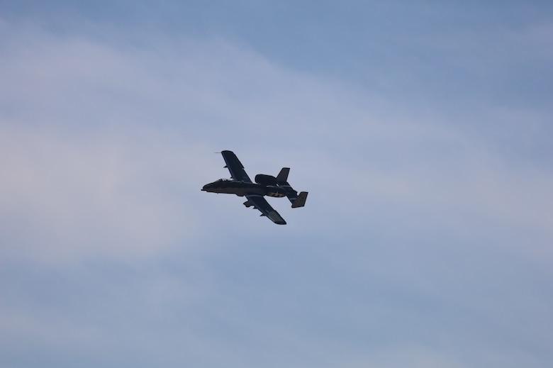 A10 in flight