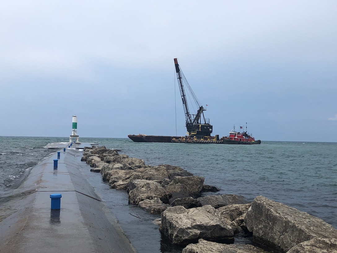 The U.S. Army Corps of Engineers, Detroit District, recently awarded a contract for dredging in western Michigan, on Lake Michigan.