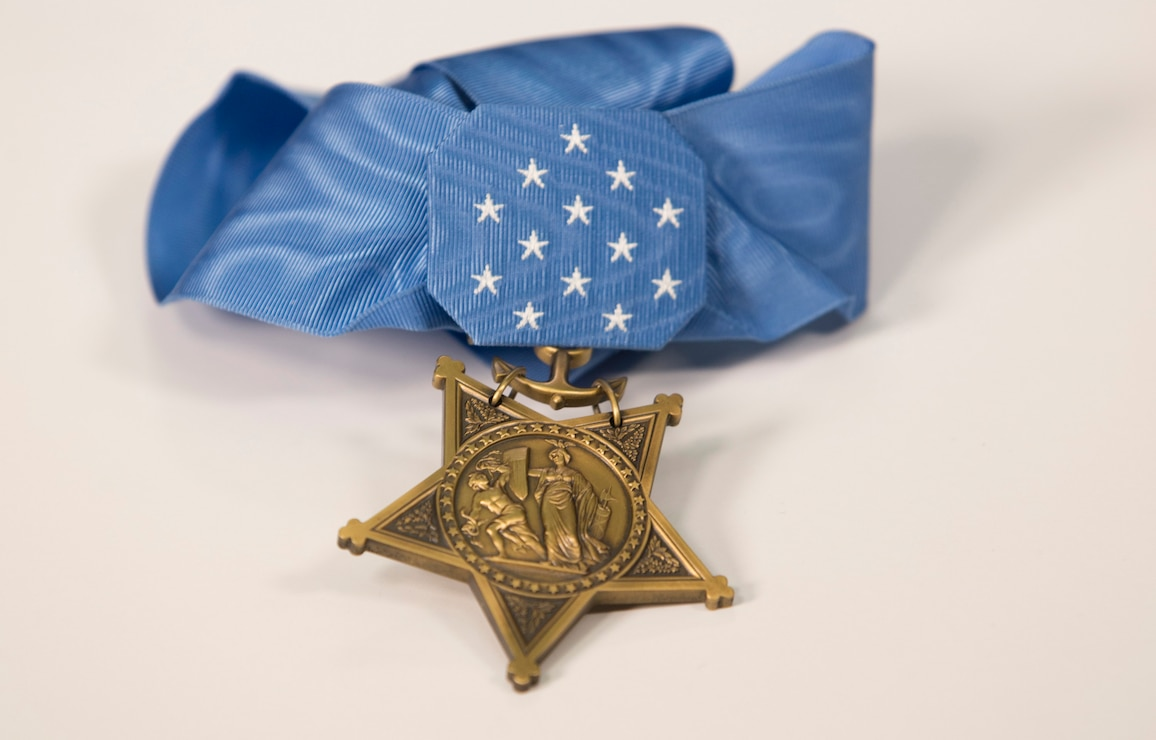 Britt Slabinski's medal of honor