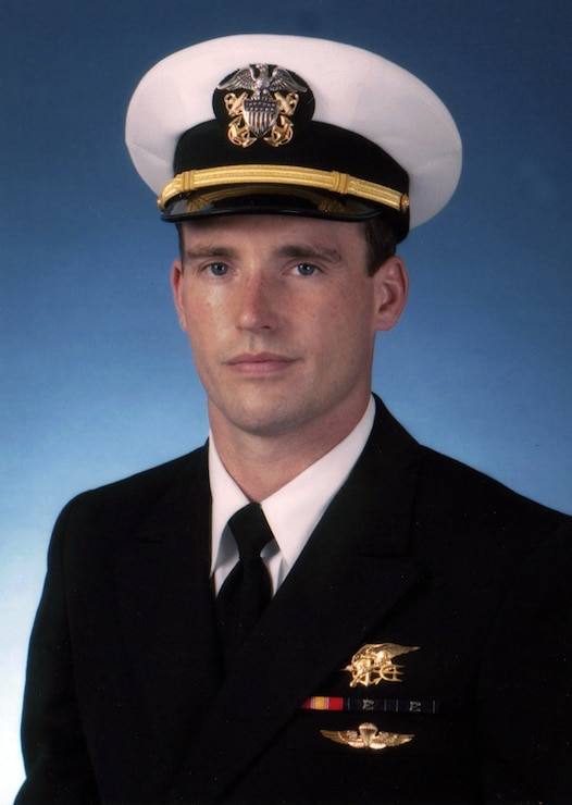 LIEUTENANT MICHAEL P. MURPHY posing in his uniform for portrait