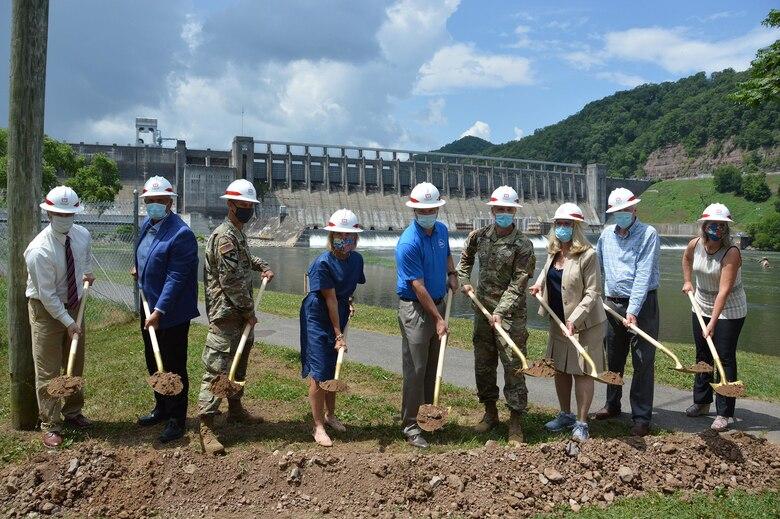 Groundbreaking Ceremony for Phase 5 Stilling Basin of the Bluestone Dam Safety Assurance Mega-Project