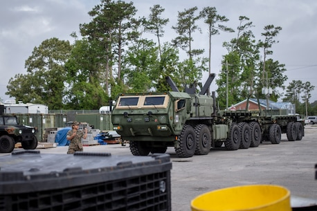 SPMAGTF-SC Marines operate various military vehicles during mobilization training at Camp Lejeune, North Carolina, to validate their capabilities to rapidly and effectively deploy for any crisis response mission during their deployment to Latin America.