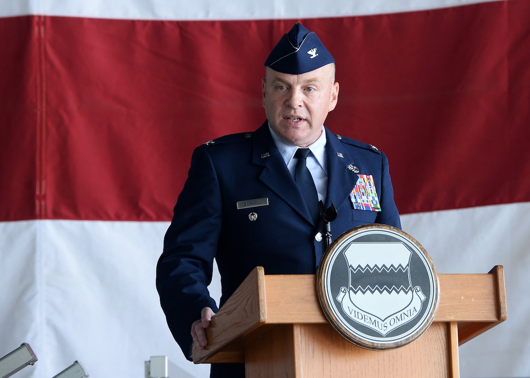 Photo to go with 55th Maintenance Group change of command story