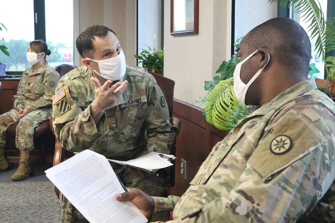 316TH ESC Soldiers conduct OPD