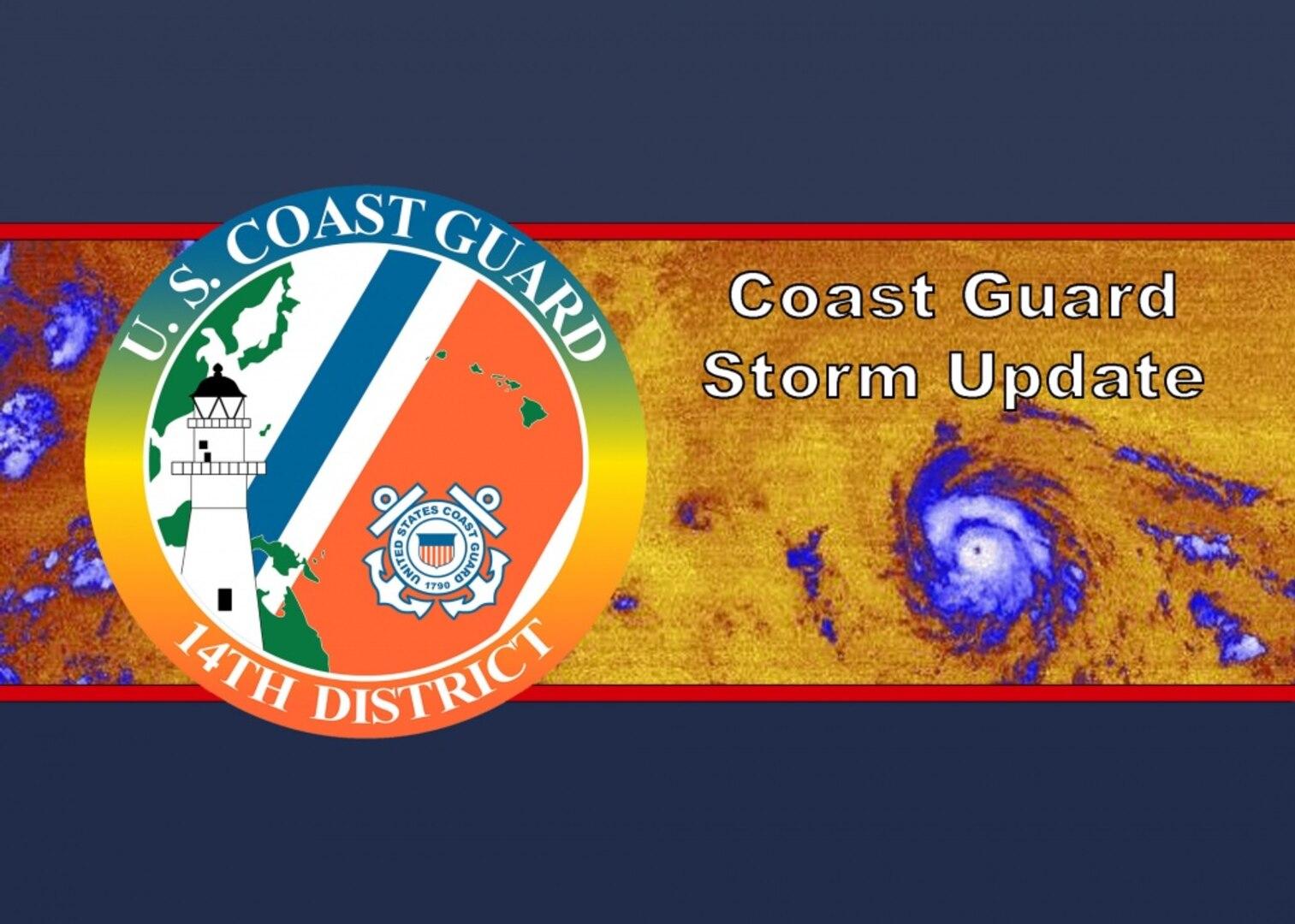 Coast Guard sets port condition WHISKEY for Hawaii, Maui, and Honolulu Counties ahead of Hurricane Douglas