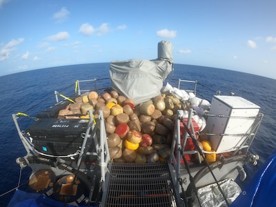 USS Shamal with embarked U.S. Coast Guard Law Enforcement Detachment team conducts enhanced counter narcotics operations July 4