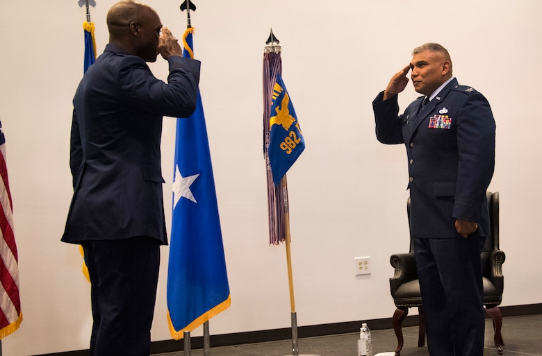 Col. Anthony Puente relinquishes command of 982nd TRG