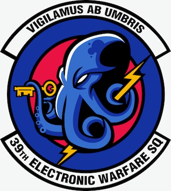 Graphics of 39th electronic Warfare Squadron Patch